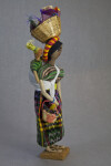 Honduras Figurine of a Woman with a Baby Strapped to Her Back (Three Quarter View)