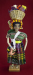 Honduras Lady Made from Fabric with Straw Basket on her Head (Full View)