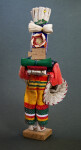 Honduras Man Wearing Bright Woven Clothes and Carrying Supplies on His Back (Back View)