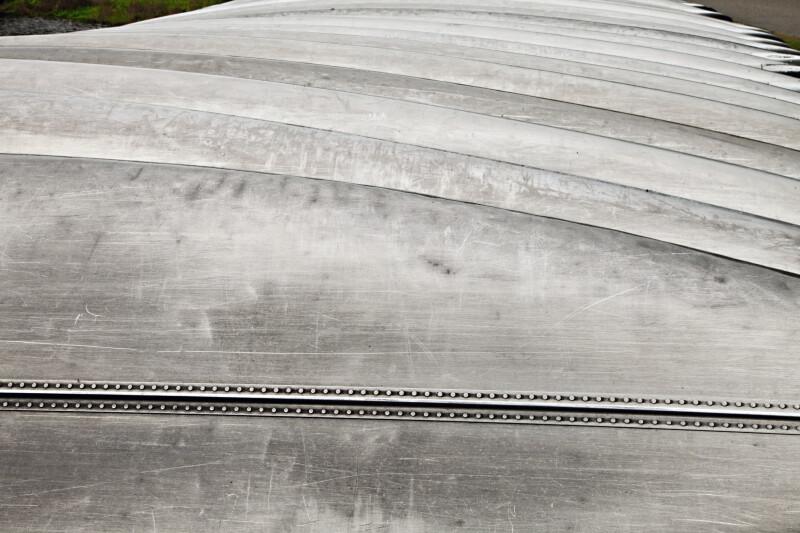 Horizontal View of Metal Canoes at Myakka River State Park