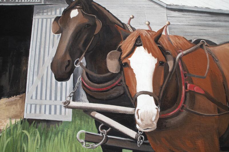 Horses in Mural