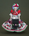 Hungary Traditional Dress for Hungarian Married Woman Including Apron (Full View)