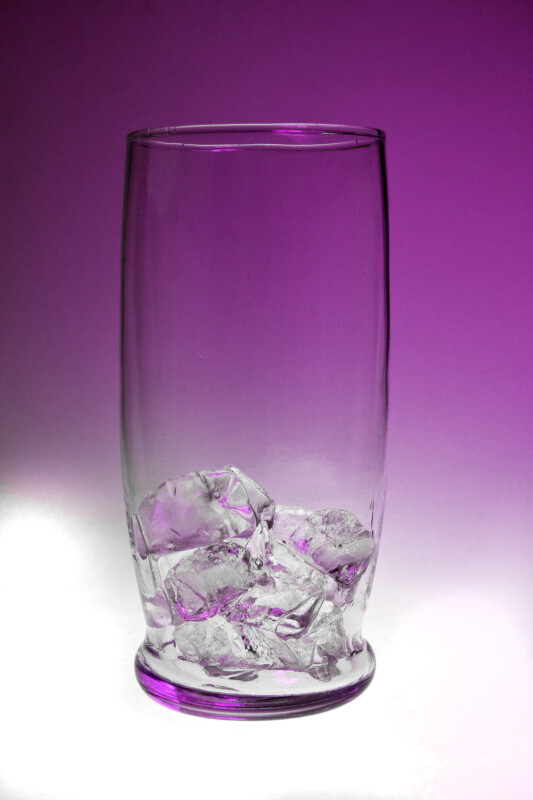 Ice Cubes in a Clear Glass
