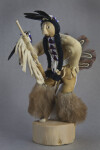 Idaho Native American Shoshone Warrior Doll with Beads, Fur, Feathers, and Leather (Full View)