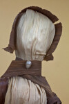 Illinois Corn Husk Doll Handcrafted in Illinois (Close Up)