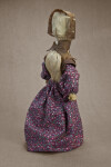 Illinois Faceless Lady Handmade from Light and Dark Corn Husks (Three Quarter View)