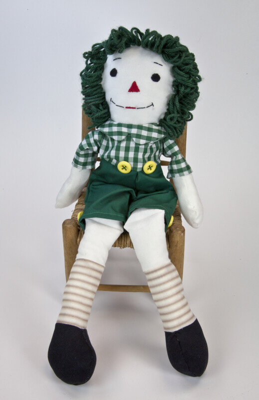 Indiana Seated Raggedy Andy Doll, Whose Design is Based on the Stories by Johnny Gruelle (Full View)