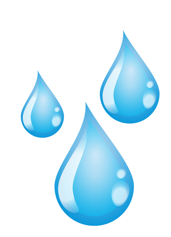 Illustration of Three Water Drops
