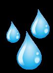 Illustration of Three Water Drops