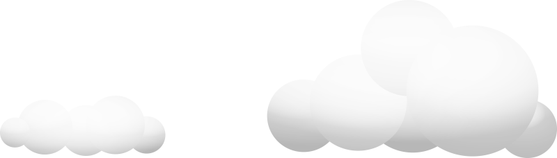 Illustration of Two Clouds at a Distance from Each Other