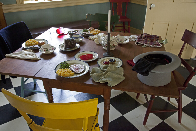 Imitation Food on a Table