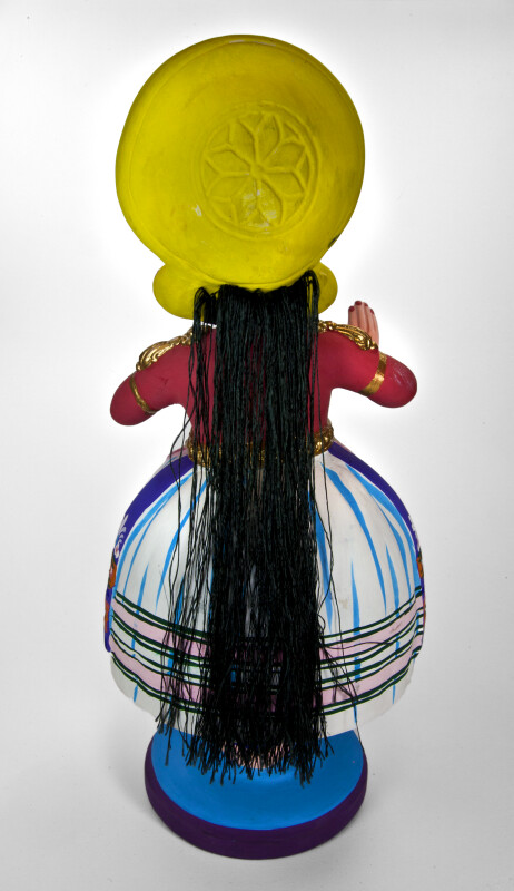 India Bobblehead Doll with Three Balancing Parts (Back View)