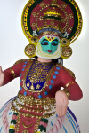 India Hand Painted Ceramic Doll with Three Balancing Parts (Three Quarter Length)