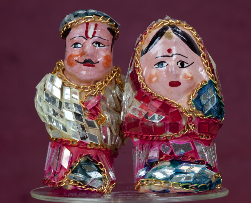 India Handcrafted Couple from Hall of Mirrors in Amber Fort Palace (Full View)