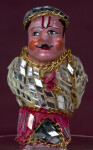 India Handcrafted  Gentleman with Hand Painted Face and Gold Chains Trimming Small Mirrors (Full View)