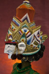 India Rama Rod Puppet from Ramayana Legend with Magnificent Crown (Profile View)