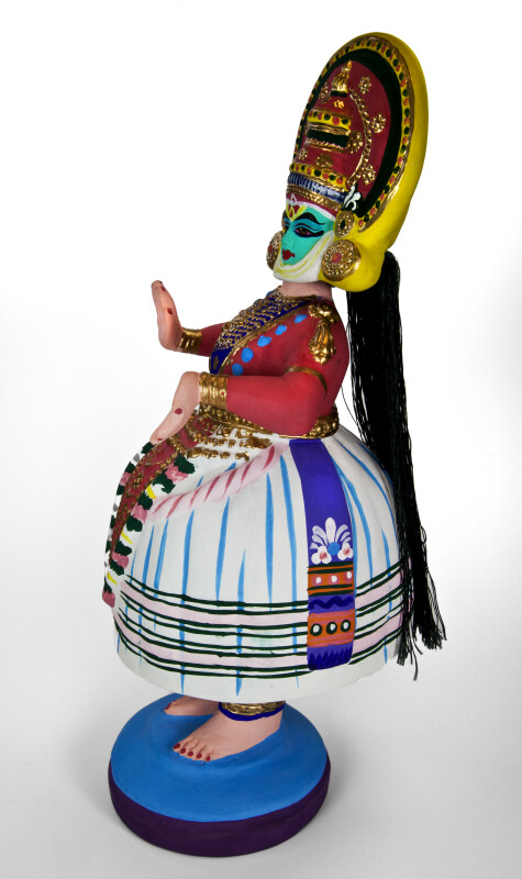 India Tanjore Dancing Doll Made from Ceramics (Profile View)