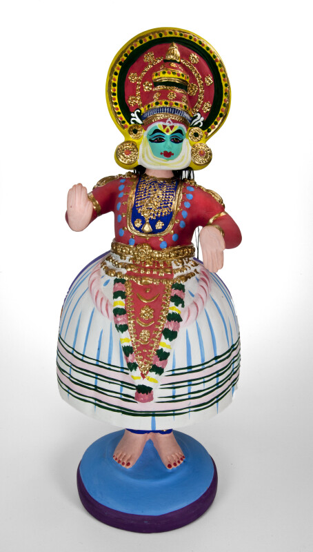 India Tanjore Dancing Doll with Bell-Shaped Skirt and Dance Hands (Full View)