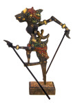 Indonesia Batik Wood Shadow Puppet Also Known as Wayang Klitik or Wayang Kulit (Full View)