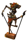 Indonesia Shadow Puppet Representing a Character from Ancient Sanskert Ramayana Story (Full View)