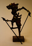 Indonesia Wood Batik Shadow Puppet with Jointed  Arms (Silhouette)