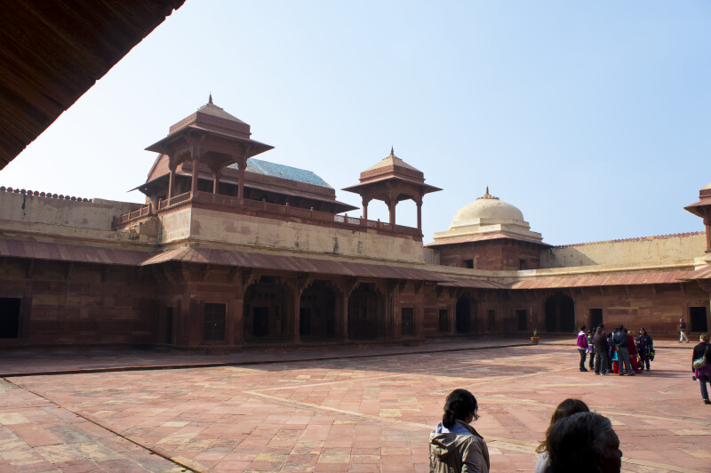 Inner Courtyard of Jodha Bai's Palace
