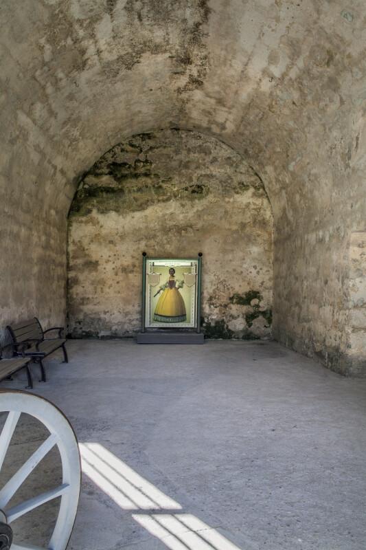 Interior of a Castillo de San Marcos Room with a Barrel Vault Ceiling