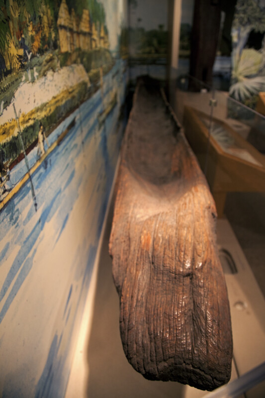 Interior of a Dugout Canoe at the Timucuan Preserve Visitor Center of Fort Caroline National Memorial