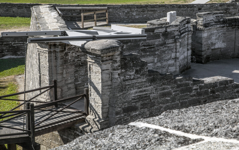 Interior of the Ravelin at Castillo de San Marcos from the Fort's Southeast Bastion