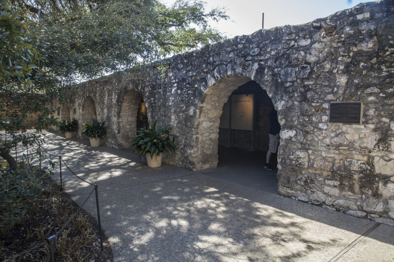 Interior Stone Wall of the Alamo