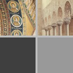 Intrados or soffit of an arch with decoration photographs