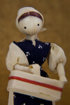 Iowa Cornhusk Doll of Woman Holding Cornhusk Basket (Close Up)