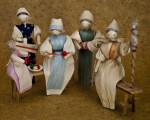 Iowa Handcrafted Corn Husks Dolls in Various Poses (Full View)