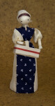Iowa Handcrafted Cornhusk Woman Holding  Basket (Full View)