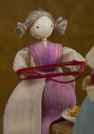 Iowa Young Corn Husk Girl with Fiber Pigtails (Close Up)