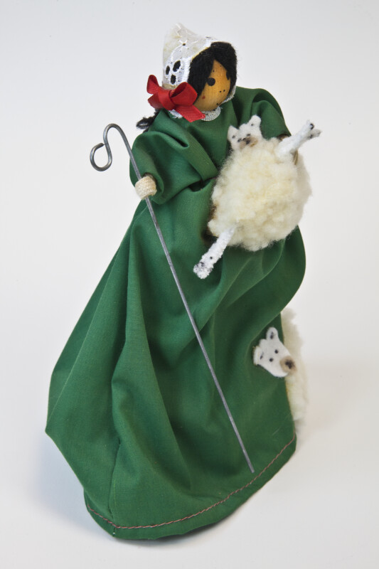 Ireland Hand Made Bo Peep Figure by Mary Doyl (Three Quarter View)