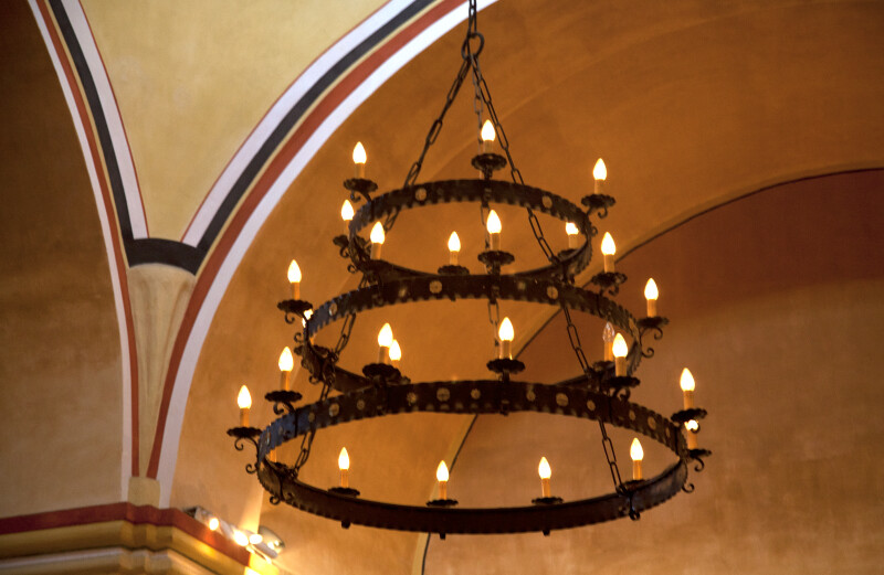Iron Chandelier in the Mission Concepción Sacristy