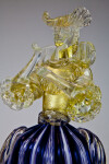 Italy Female Figurine Sculpted in Murano Glass (Close Up)