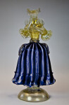 Italy Glass Sculpture of Lady Created on Murano Island Near Venice (Full View)
