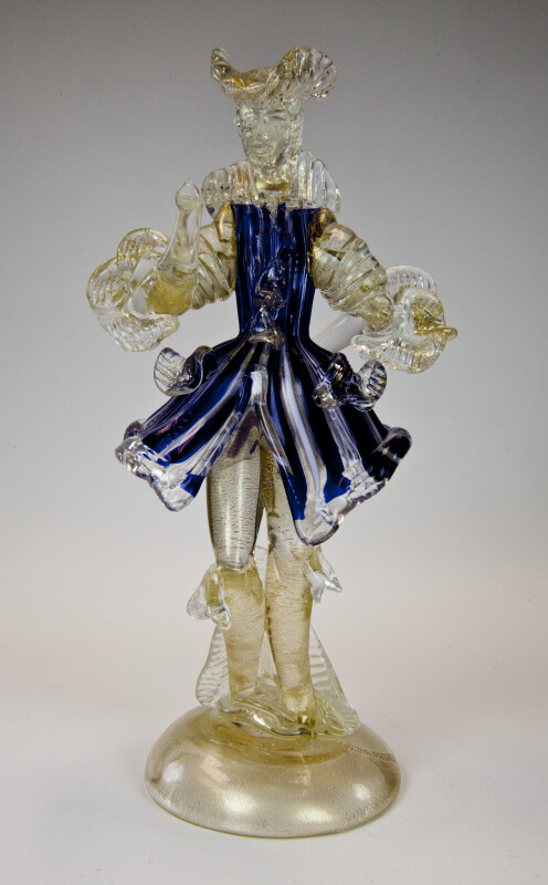 Italy Male Venetian Glass Figure from Murano (Full View)