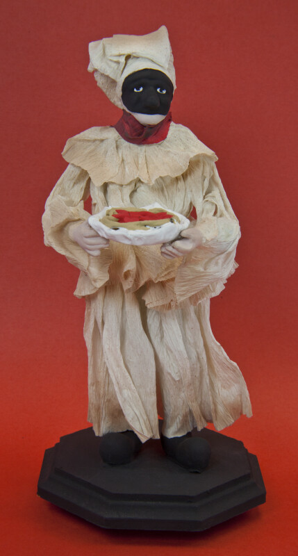 Italy Man Made of Corn Husks Wearing Mask and Costume (Front View)