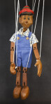 Italy Pinocchio Jointed String Marionette Made from Wood (Full View)