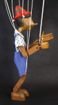 Italy Pinocchio Toy Puppet Marionette Controlled with Strings  (Profile View)