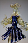 Italy Venetian Glass Figure of Man Created in Murano (Close Up)