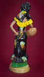 Jamaica Female Figurine with Head Scarf and Fruit Basket from Frazer's Ceramic (Back View)