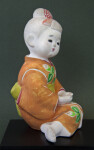 Japan Ceramic Girl in Seated Pose Wearing a Kimono (Profile View)