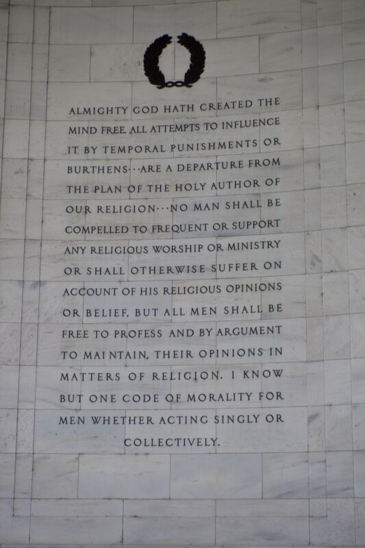 "Jefferson's ""Bill for Establishing Religious Freedom"""