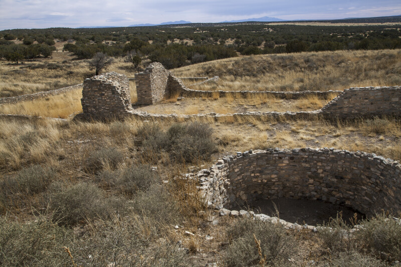 Kiva and Church Ruins