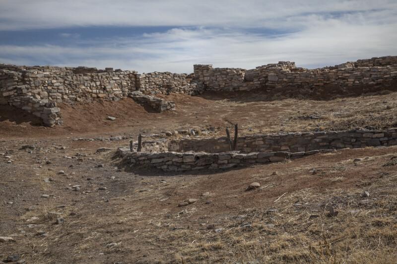 Kiva and Ruins of Mound Seven at Gran Quivira