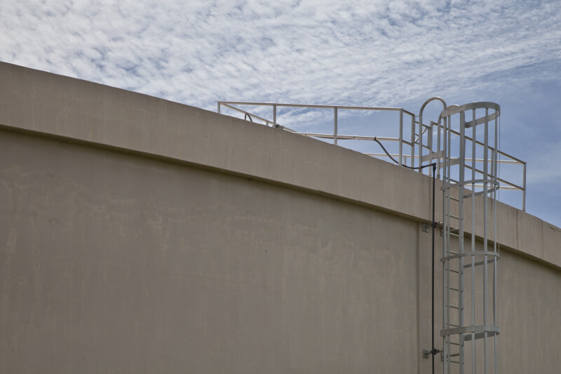 Ladder at Roofline of Reclaimed Water Storage Tank